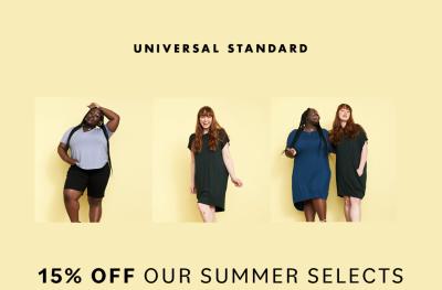 Universal Standard Sale: Get 15% Off SITEWIDE!