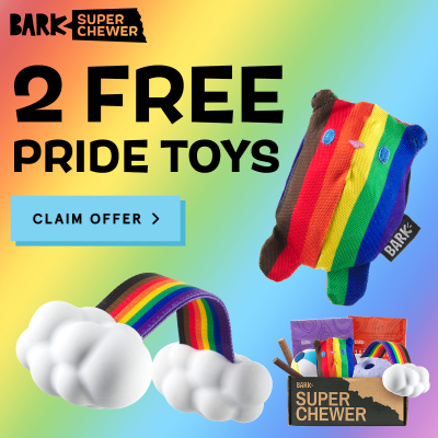 Super Chewer Deal: FREE Pride Bundle With First Box of Tough Toys for Dogs!