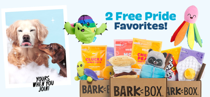 BarkBox Deal: FREE Pride Bundle With Your First Box!