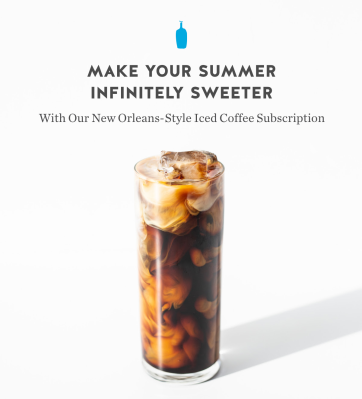 Blue Bottle Coffee Launches New Orleans Style Iced Coffee Subscription: Summer Is Sweeter With This Cold Brew Coffee!