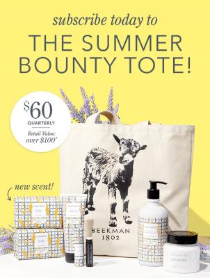 Beekman 1802 Seasonal Fragrance Tote Subscription Summer 2021 Full Spoilers!