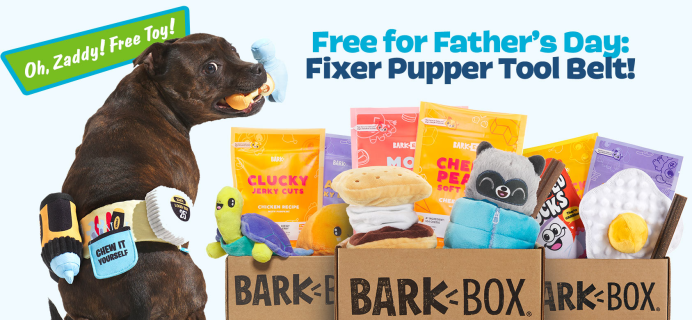 BarkBox Deal: FREE Fixer Pupper Tool Belt Wearable With Your First Box!
