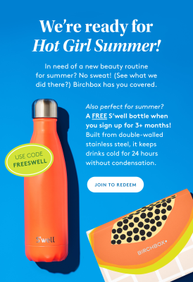 Birchbox Coupon: FREE Swell Bottle!