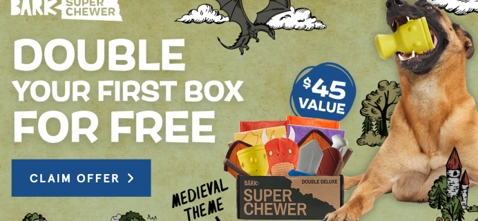 BarkBox Super Chewer: First Box Double Deluxe Deal + Medieval Themed Box!