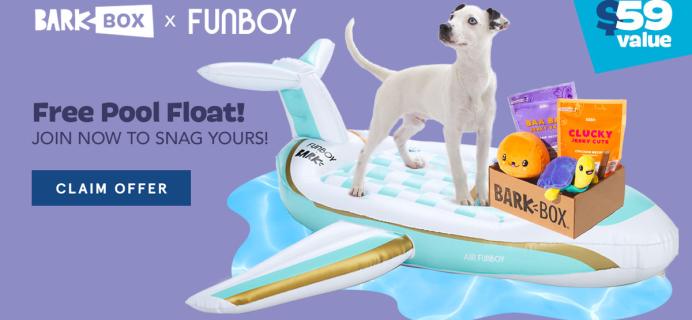 BarkBox Coupon: FREE Funboy Private Jet Dog Float!
