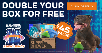 BarkBox Super Chewer: First Box Double Deluxe Deal + Space Jam Themed Box!