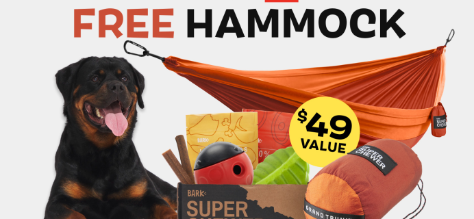 Super Chewer Deal: FREE Grand Trunk Hammock With Subscription of Tough Toys for Dogs!
