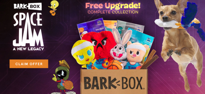 BarkBox Deal: Double Your First Box for FREE + Space Jam Box!