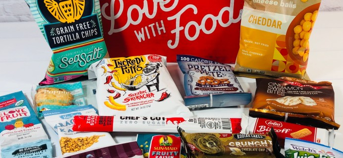 Love With Food June 2021 Deluxe Box Review + Coupon