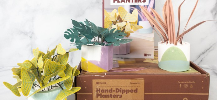 Maker Crate Review + Coupon – HAND-DIPPED PLANTERS