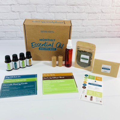 Simply Earth June 2021 Essential Oil Subscription Box Review + Coupon