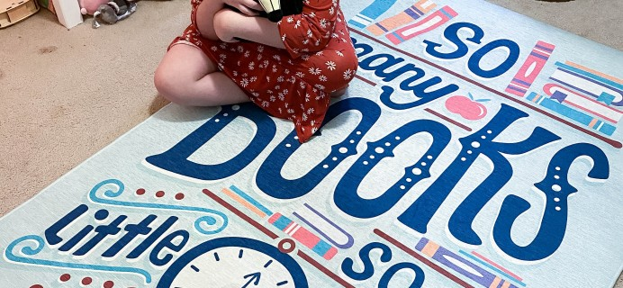 Society6 Rug Review – So Many Books So Little Time by Risa Rodil