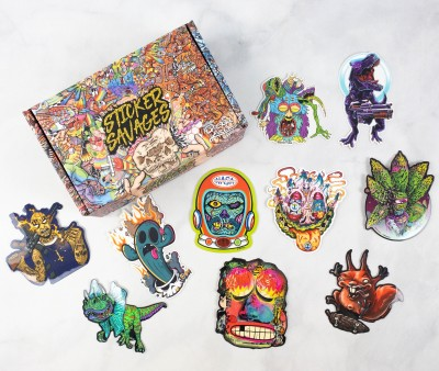 Sticker Savages June 2021 Subscription Box Review + Coupon