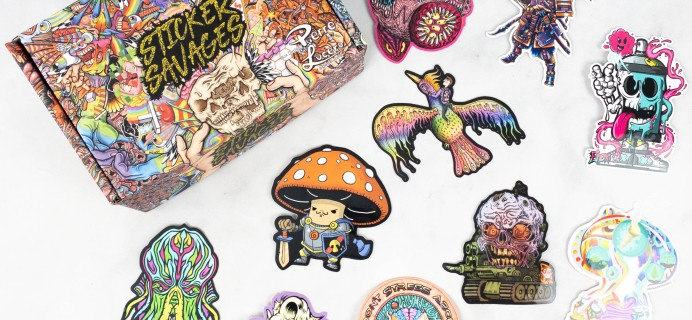Sticker Savages May 2021 Subscription Box Review + Coupon