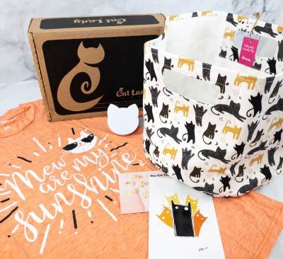 Cat Lady Box July 2021 Subscription Box Review – MEW ARE MY SUNSHINE BOX!