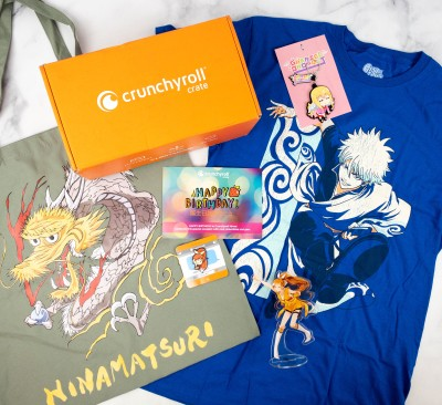 """Crunchyroll Crate """"HAPPY BIRTHDAY"""" June 2021 Subscription Box Review"""
