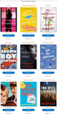 Amazon First ReadsJuly 2021 Selections: 1 Book FREE for Amazon Prime Members