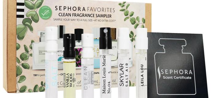 New Sephora Favorites Self Clean Perfume Sampler Set!