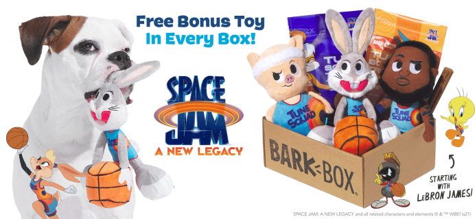 BarkBox Deal: FREE Toy in EVERY Box + Space Jam Box!