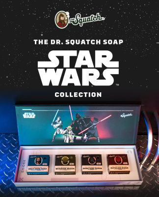 Dr. Squatch Star Wars Limited Edition: Unique Bar Soaps Inspired By Your Favorite Star Wars Legends!