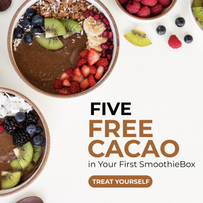 SmoothieBox Coupon: FREE Cacao Smoothies In First Box!
