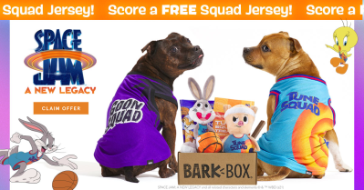BarkBox Deal: FREE Squad Wearable Jersey With Space Jam Box!