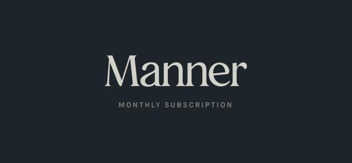 Gentleman's Box Premium Box Is Now Manner: The Modern Man's Subscription!