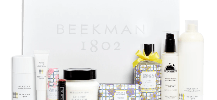 B. 1802 Beekman Beauty Box Summer 2021: Full Spoilers!
