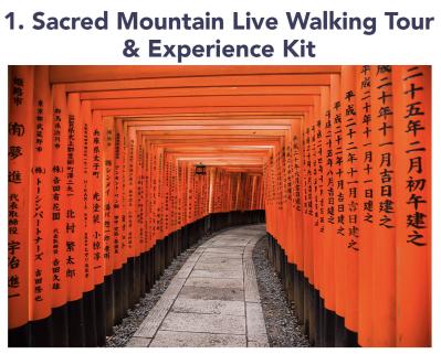 JourneeBox Kyoto Box Add On: Live Sacred Mountain Walking Tour
