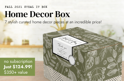 Decor Steals Fall 2021 Limited Edition Steal It Box Full Spoilers!