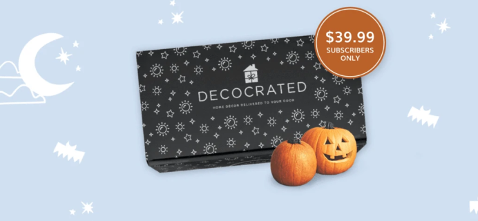 Decocrated Halloween Box 2021 Available For Preorder Now!