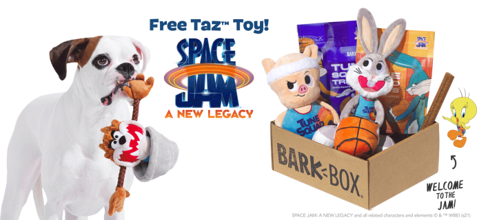 BarkBox Deal: FREE Taz Toy With Space Jam Box!