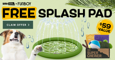 BarkBox & Super Chewer Deal: FREE FUNBOY Splash Pad With First Box of Toys and Treats for Dogs!