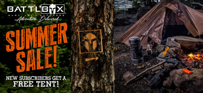 BattlBox Summer Sale: Get FREE Tent with Subscription!