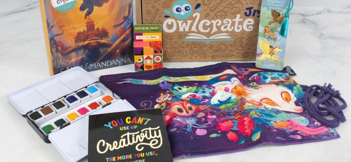 OwlCrate Jr. July 2021 Box Review & Coupon – CREATIVITY CONQUERS ALL!