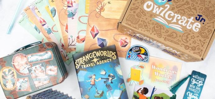OwlCrate Jr. June 2021 Box Review & Coupon – WONDROUS WORLDS!