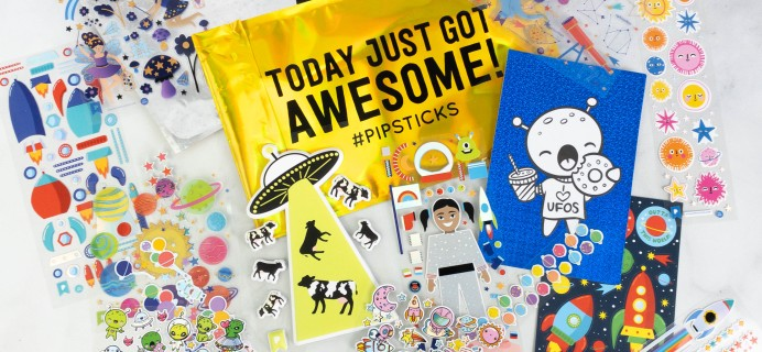 Pipsticks Kids Club Classic July 2021 Sticker Subscription Review + Coupon!