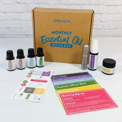 Simply Earth July 2021 Essential Oil Subscription Box Review + Coupon