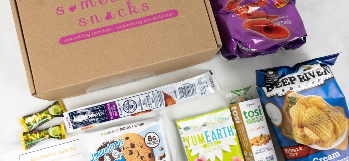 Something Snacks July 2021 Subscription Box Review + Coupon