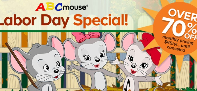 ABCmouse Labor Day Sale: Get 1 Year of ABCmouse for $45 –  Over 70% Off!