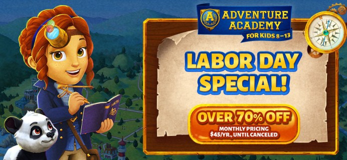 Adventure Academy Labor Day Sale: Get 1 Year of Adventure Academy for $45 – Over 70% Off!