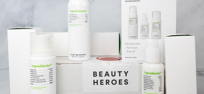 Beauty Heroes August 2021 Review: INGREDIENTS®