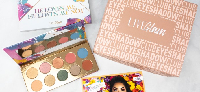LiveGlam Eyeshadow Club He Loves Me, He Loves Me Not Palette + Coupon