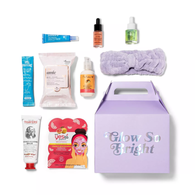 Target Beauty Capsule Glow So Bright Bath and Body Gift Set: 9 Piece Glow Up And Everyday Essentials!