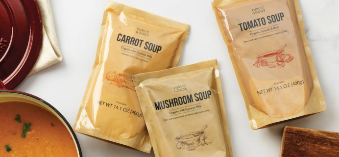Public Goods Classic Soups Are Back: Organic and Vegan Soups With Rich Flavors!