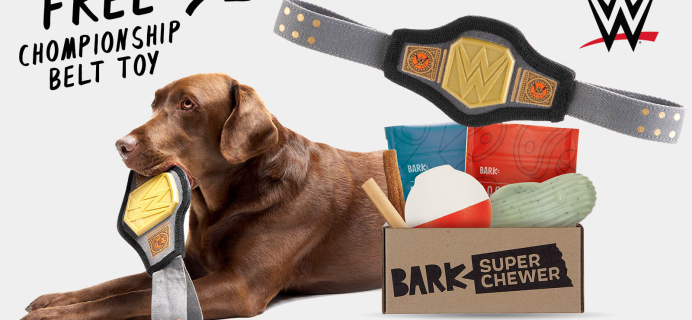 Super Chewer Deal: FREE Championship Belt Toy With First Box of Tough Toys for Dogs!