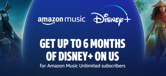 Amazon Music Unlimited Prime Deal: Up To 6 Months FREE Disney+ Subscription!