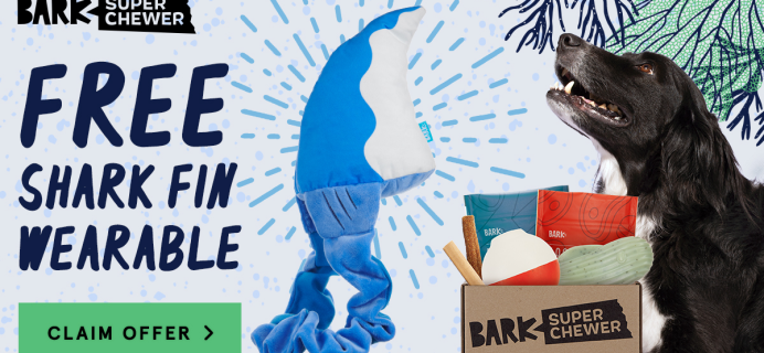Super Chewer Deal: FREE Shark Fin Wearable Toy With First Box of Tough Toys for Dogs!