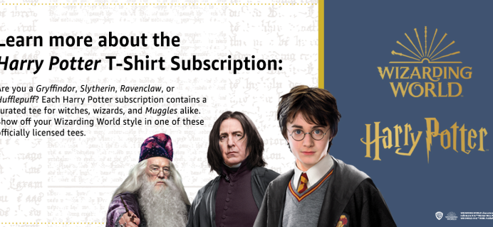 Harry Potter T-Shirt Club Available Now For Witches, Wizards, and Muggles Alike!