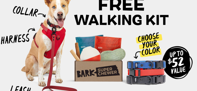 Super Chewer Deal: FREE Dog Walk Pack With First Box of Tough Toys for Dogs!